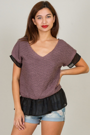 Crochet V-Neck Top With Back Tie