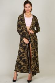 Camouflage Long Sleeve Cardigan