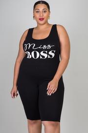 Plus Size Miss Boss Capri Jumpsuit