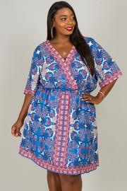Plus Size Bohemian Short Sleeve Dress