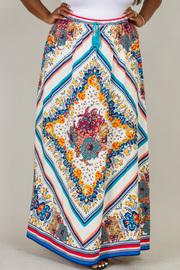 Plus Size  Casual Elastic Waist Skirt