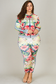 Plus Size 2-Piece Jacket and Pants Set