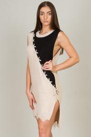 Crew Neck Knit Sleeveless Sweater Dress