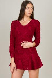 Long Sleeve Dropped Waist Dress