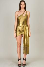 One Shoulder Sleeve Asymmetrical Mini Dress