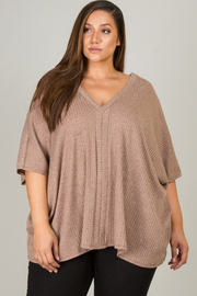 Plus Size Wide Short Sleeve Top