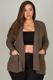 Plus Size Long Sleeve Cardigan