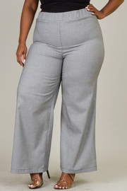 Plus Size Wide Leg Elastic Waist Band Pant