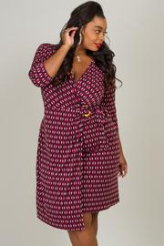 Plus Size O-ring Print Dress