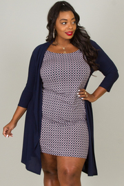 Plus Size Cardigan & Dress Set