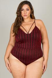 Plus Size Spaghetti Strap Bodysuit