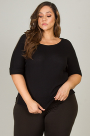 Plus Size Crew Neck Top