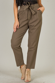 Straight Leg Belted Pant