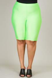 Plus Size Knee Legnth Biker Shorts