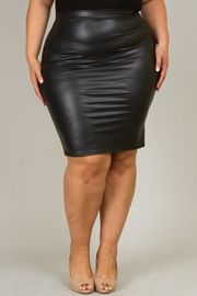 Plus Size Fitted Knee Skirt