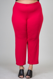 Plus Size Straight Fit Pant With Elastic On Waist