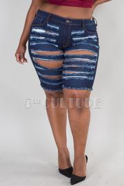Plus Size Shipwrecked Bermuda Shorts