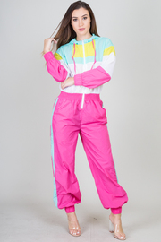 Color Block Long Sleeve Track Suit