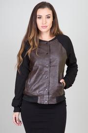 Long Sleeve Pleather Jacket