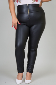 Plus Size Zip Front Legging