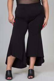 Plus Size Ruffle Hi-Lo Pant