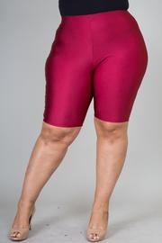 Plus Size Knee Legnth Biker Shorts
