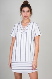 V-Neck Striped Summer Mini Dress