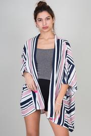 Short Sleeve Stripe Cardigan