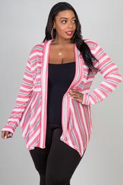 Plus Size Long Sleeve Asymmetrical Cardigan