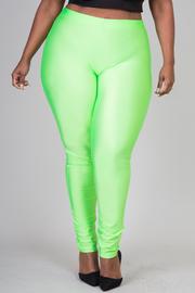 Plus Size Neon Leggings