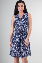 Sleeveless Flounce Knee Dress
