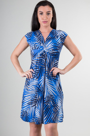 Short Sleeve Flounce Knee Dress