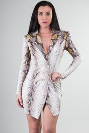 Long Sleeve Jacket Mini Dress