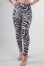 High Waist Zebra Print Legging