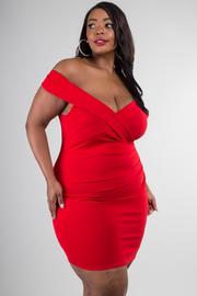 Plus Size Sleeveless Off Shoulder Bodycon Dress