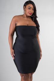 Plus Size Straight Across Tube Dress