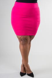 Plus Size Knit Mini Skirt