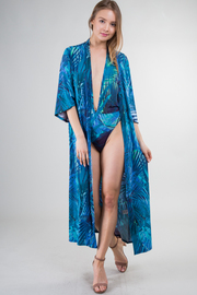 Deep V Halter Neck And Cover-Up Two-Piece Swimsuit