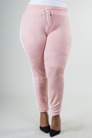 PLUS SIZE SIDE STRIPE BRUSHED HACCI JOGGER PANTS
