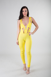Sleeveless Cut-Out Detail Jumpsuit