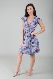 Surplice Flared Dress