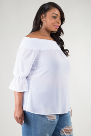 OFF SHOULDER 3/4 SLEEVE TOP