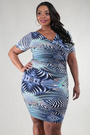 Plus Size Short Sleeve Knee Dress