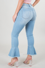 BOTTOM POINTED SKINNY JEANS