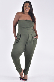 PLUS SIZE HAREM TUBE JUMPSUIT