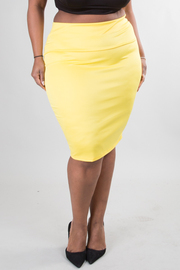 Basic solid pencil skirt