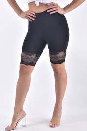 LACED POINTED BOTTOM SHORTS