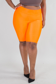 PLUS SIZE SOLID SKINNY SHORT