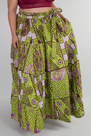 PLUS SIZE GEOMETRIC PRINTED FLAIR SKIRT