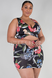PLUS SIZE SLEEVELESS BIKINI DRESS